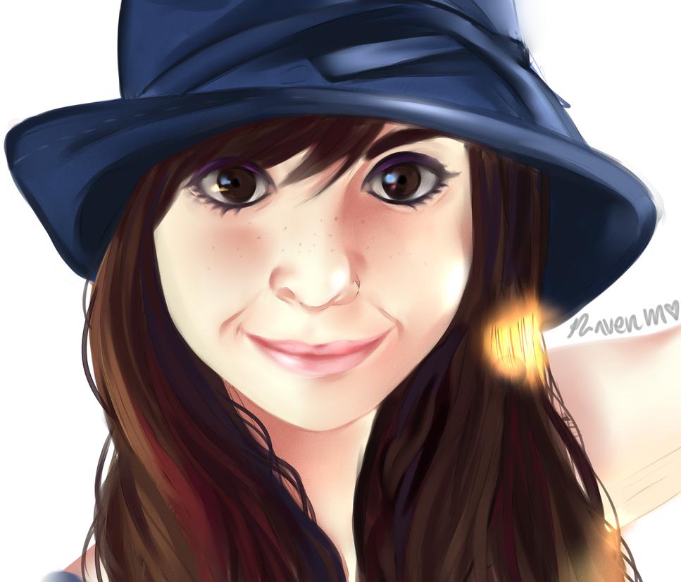 self portrait by RavenMomoka