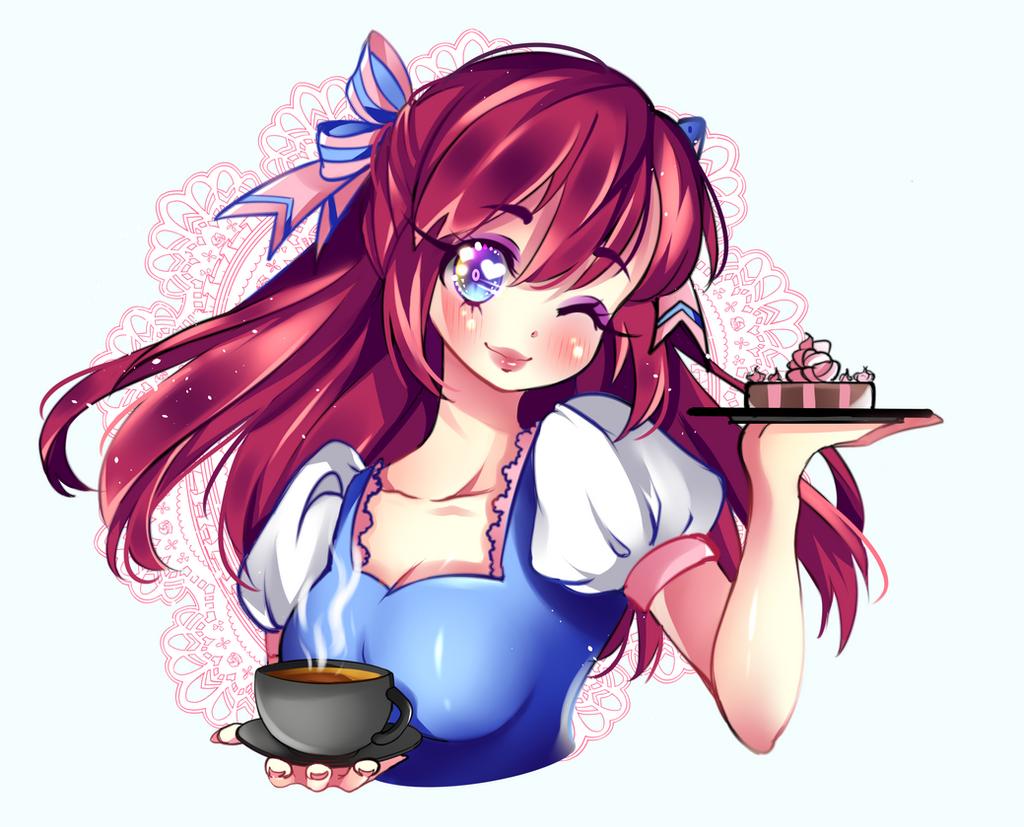 Coffee Girl by RavenMomoka