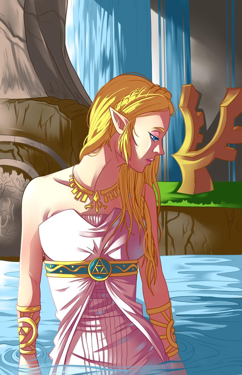 Hylian Goddess Collaboration by RavenMomoka