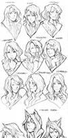 Various faces