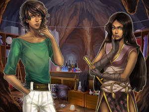 Mamoru and Susa, full color.