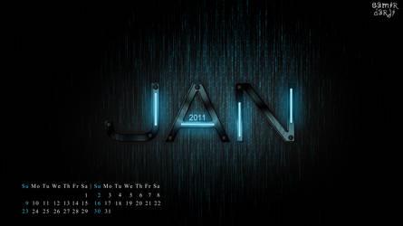 my 2011 calendar......JAN
