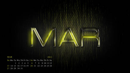 my mar calendar..........2011