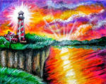 Lighthouse Sunrise by HGCreations