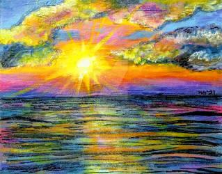 Ocean Sunrise by HGCreations