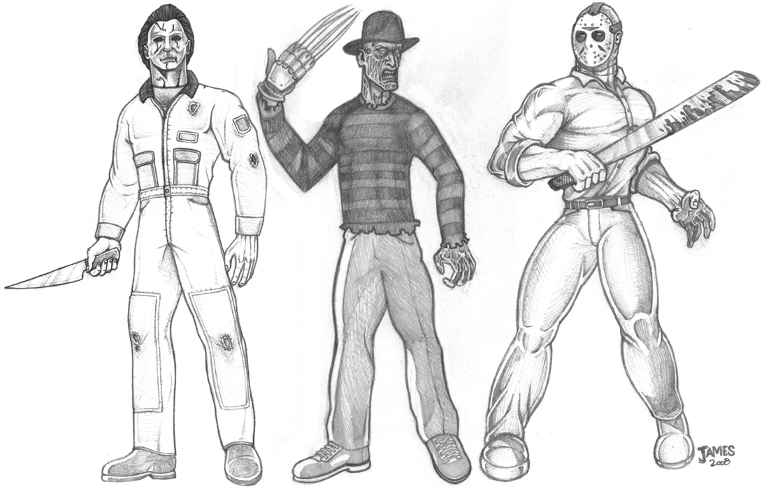 Freddy Vs Jason Coloring Pages Printable Sketch Coloring Page