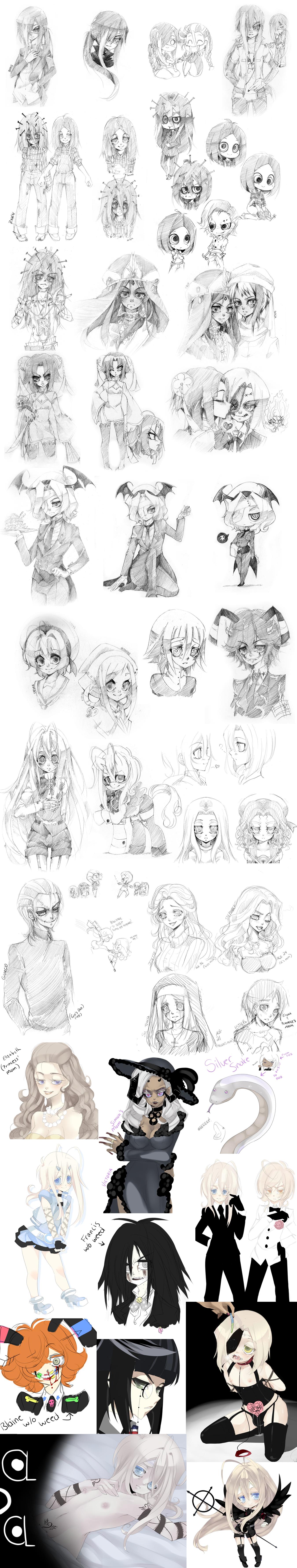 Sketch Dump 7 by TerraTerrific