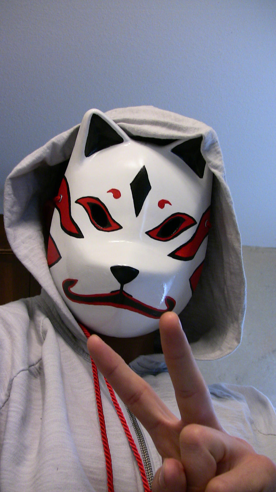 anbu kitsune mask by soulsynced artisan crafts costumery masks this is    How To Make A Anbu Mask