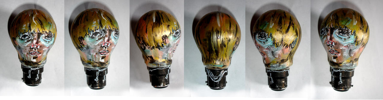 Lightbulb-portrait by ian-moore