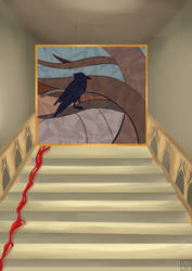 Gothic Staircase by SparkkleMutt