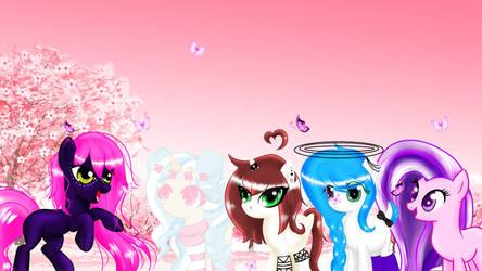 Tsukino Hana e algumas das amiguinhas.