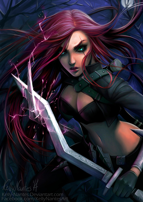 Katarina League Of Legends Fanart By Kelly Nantes On Deviantart