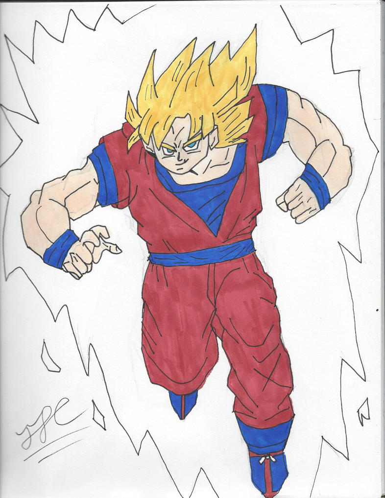 Goku (Super Sayian Form) by ElementIceHero