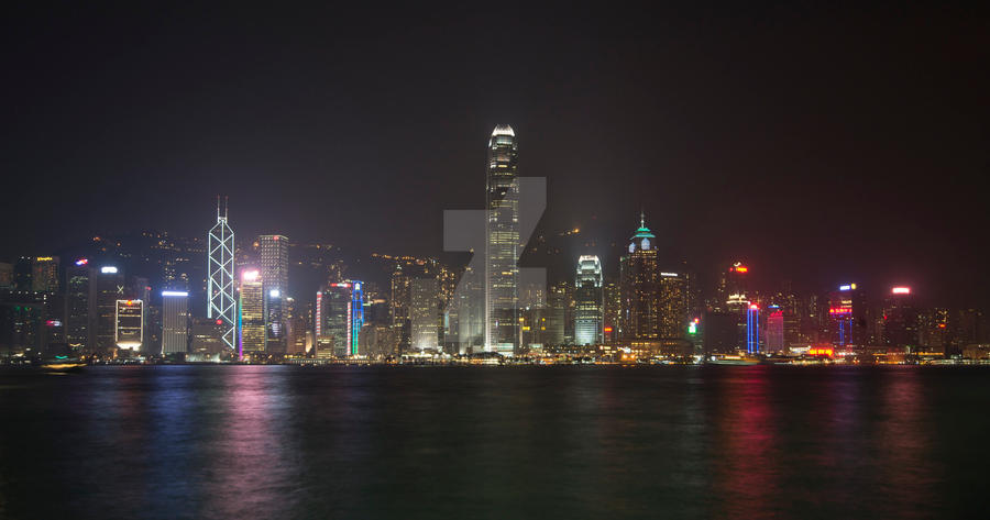 Hong Kong Harbour by powerssk8