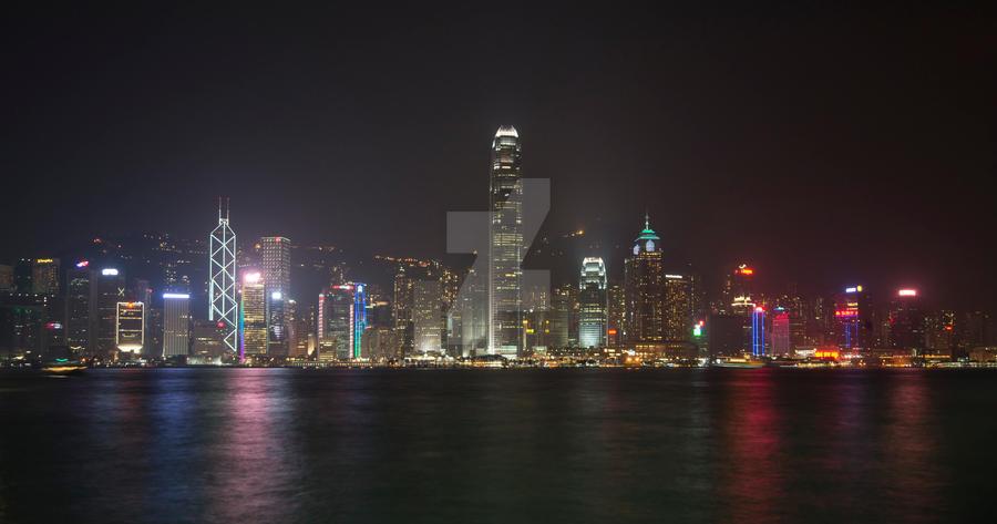 Hong Kong Harbour by powerssk8