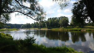 Riverside in Latvia