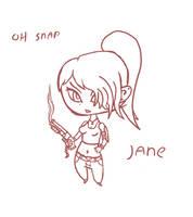 Jane - SKETCH by Asmodeus01