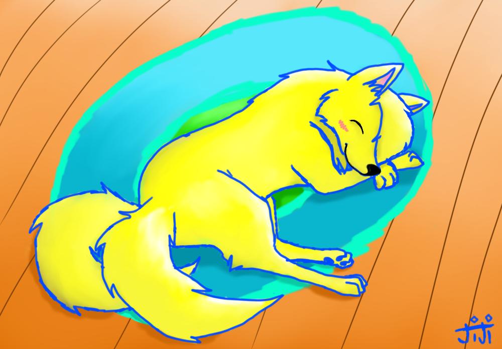 Amia Sleeping by Senackichan