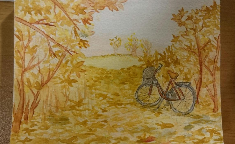 Bike in autumn by VisiblePumpkin