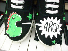 Shoes - Monster in black by invictas-shoes