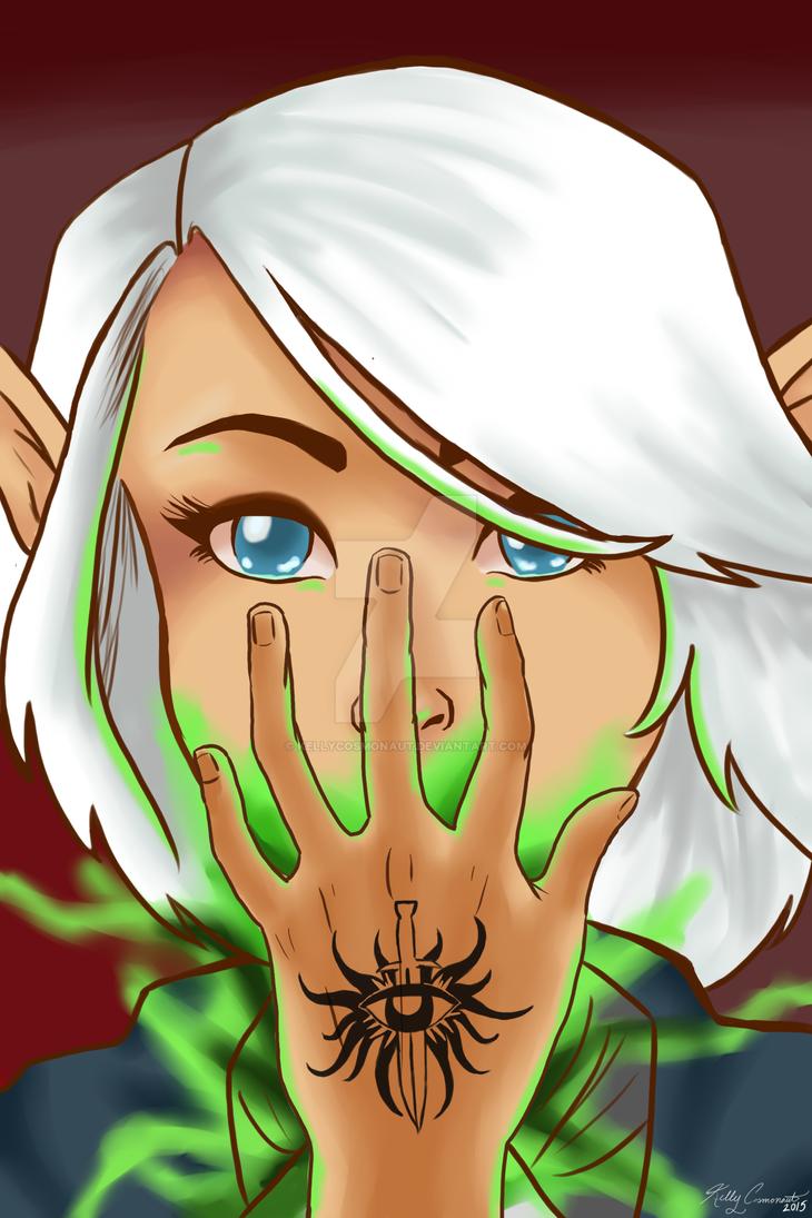 Ellana, Queen of Pentacles by kellycosmonaut