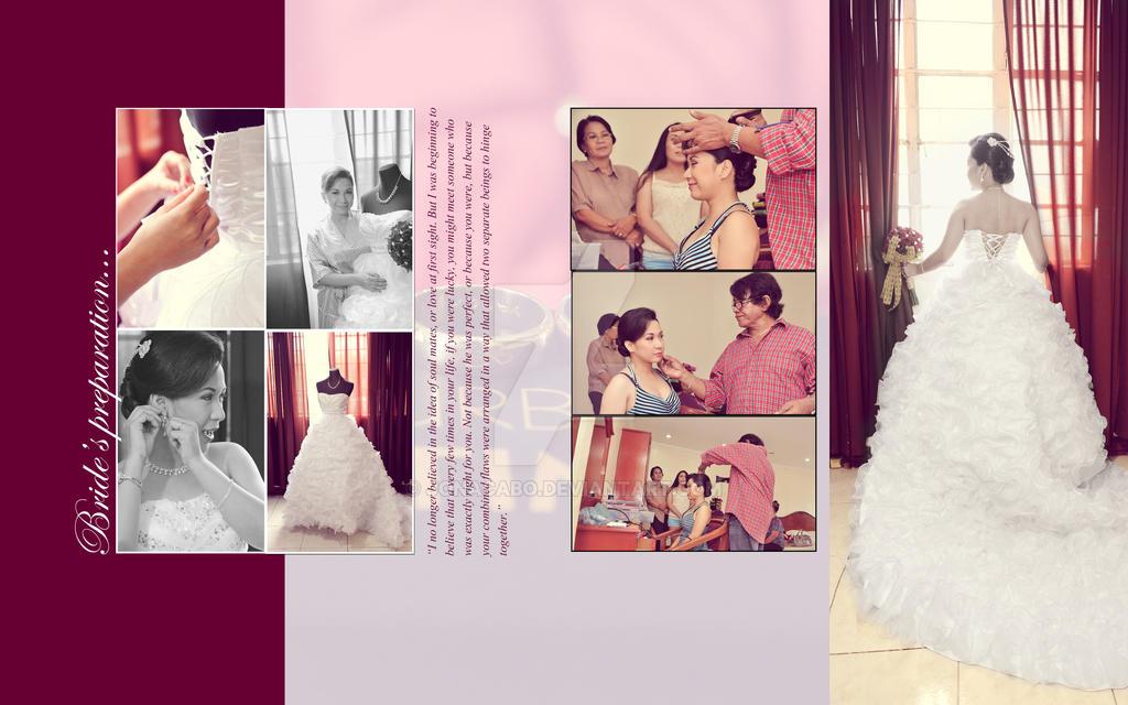 bridal photo album