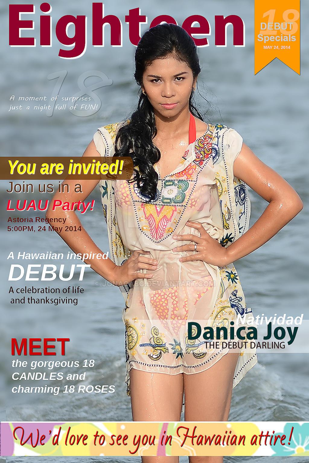 Debut Invitation Sample (Magazine Style) by JonAcabo on DeviantArt