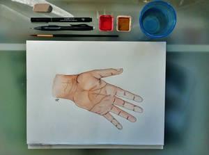 Saturday's hand