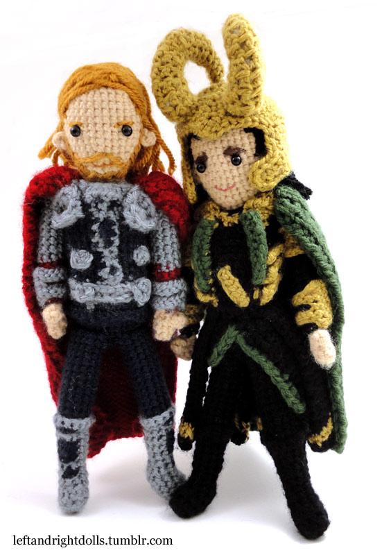Thor and Loki by leftandrightdolls