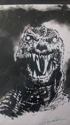 Godzilla inks by Baddahbing