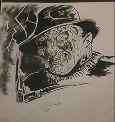 Freddy krueger inks by Baddahbing