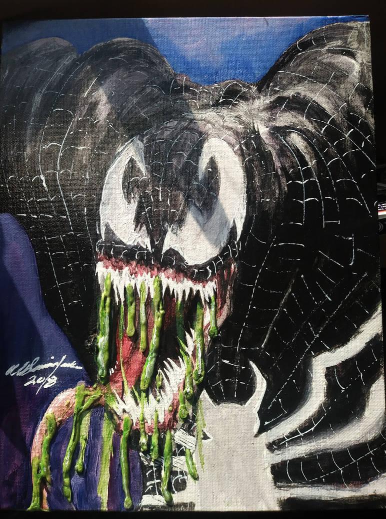 Venom collage painting by Baddahbing