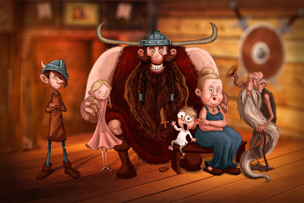 Happy Viking Family by Globoxforever on DeviantArt