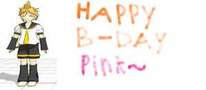 HAPPY BIRTHDAY PINK!