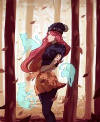 Autumn witch by Anngram