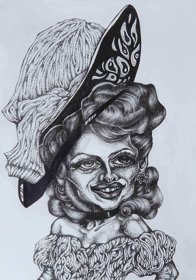 Rita Hayworth - caricature by EtShadow
