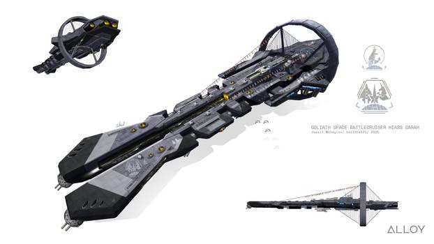Goliath class space battlecruiser - Remastered