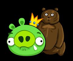 Sad King Pig + Teddy by ChinZaPep