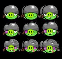 Small Helmet Pig Sprites