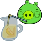 Pig Drinking from a Pitcher by ChinZaPep