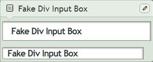 Fake Div Input Box