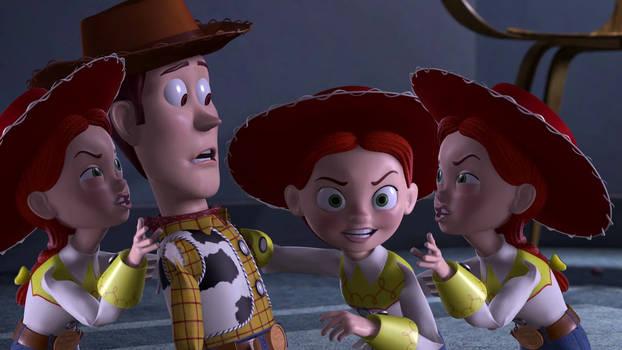 Woody meets his sisters