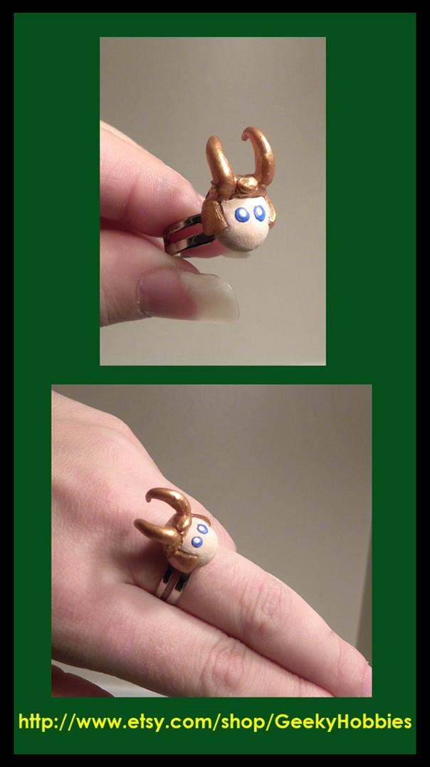 Loki Adjustable Ring by Sugar-Bolt