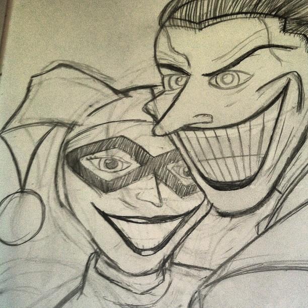 Easy Harley Quinn And Joker Drawing 21846 Applestory