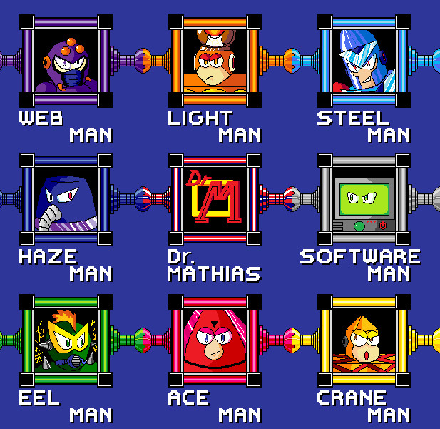 MegaMan the FA newStage select by megalucanus