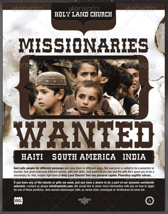 Wanted Church Missionary Flyer Template By Seraphimchris On Deviantart