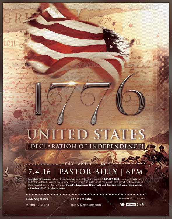 1776 Independence Day Flyer Flyer Template By Seraphimchris On