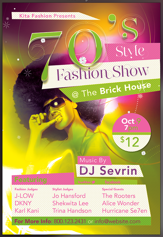 S Fashion Show Party Flyer Template By SeraphimChris On DeviantArt - Fashion show flyer template
