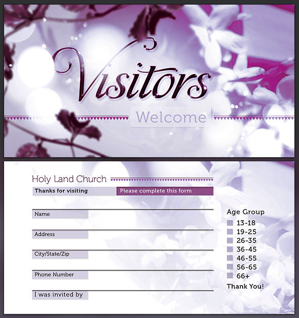 church visitors card template by seraphimchris on deviantart. Black Bedroom Furniture Sets. Home Design Ideas