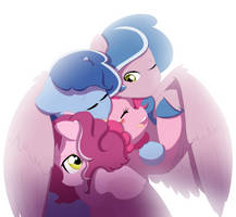 Hug the pink mother by MaruKouhai